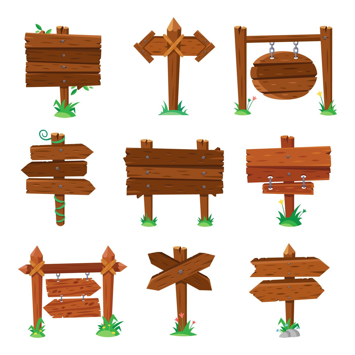 Sign Boards In Green Grass Wooden Plank Road Signs Wood Signboard Or By Tartila Thehungryjpeg Com Grass Sponsore Signboard Wooden Sign Posts Wooden Signs