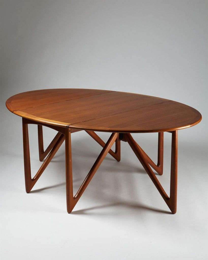Dining Table Designed By Peter Hvidt And Olga Möllgaard Nielsen, U2014  Modernity. Esstisch DesignEsstischeMöbeldesignSkandinavischTeakDie SammlungDänemarkGlass  ...
