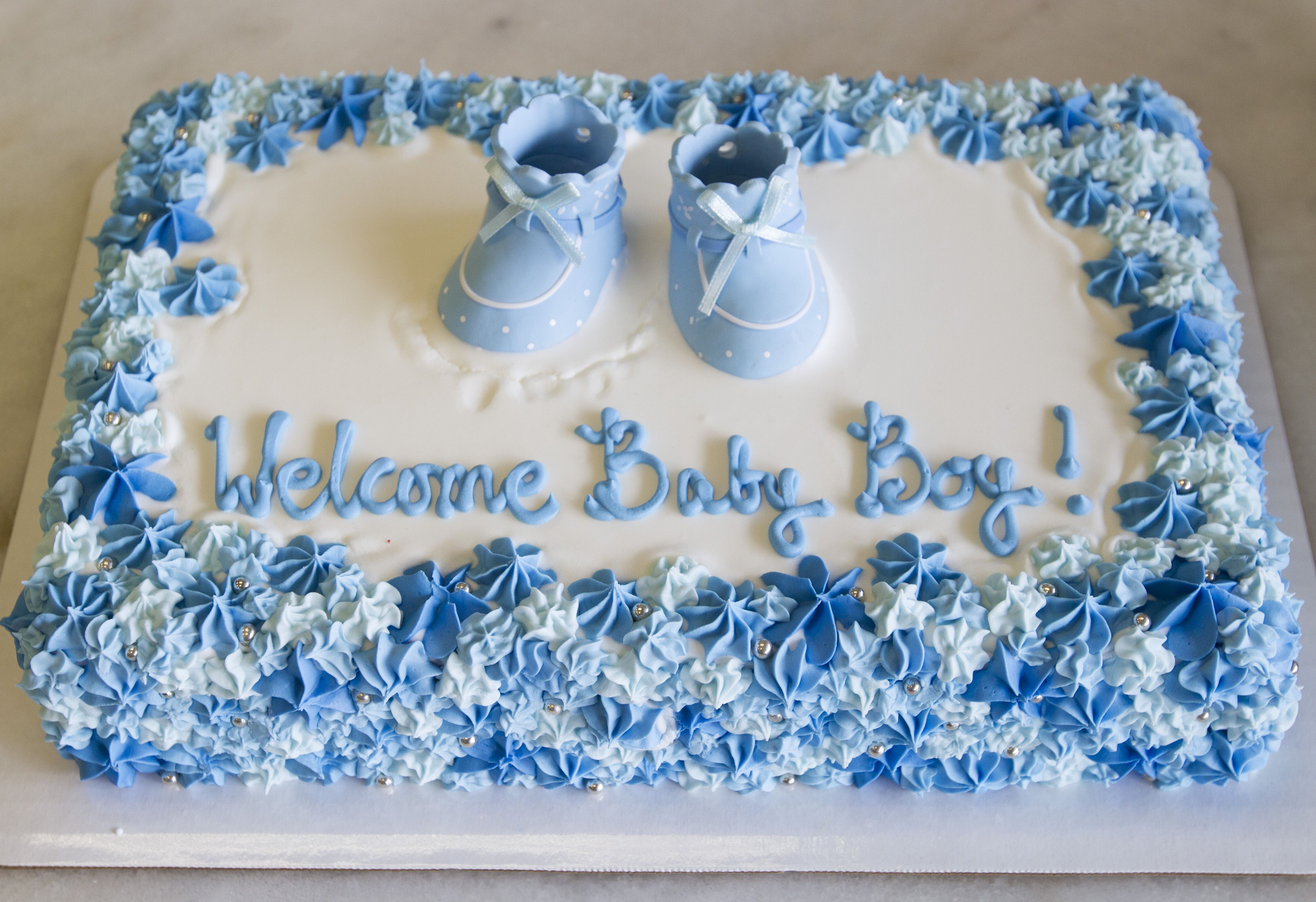 Welcome Home Baby Boy Cake Cake 035 Baby Shower Cakes For Boys Baby Shower Sheet Cakes Baby Shower Cakes