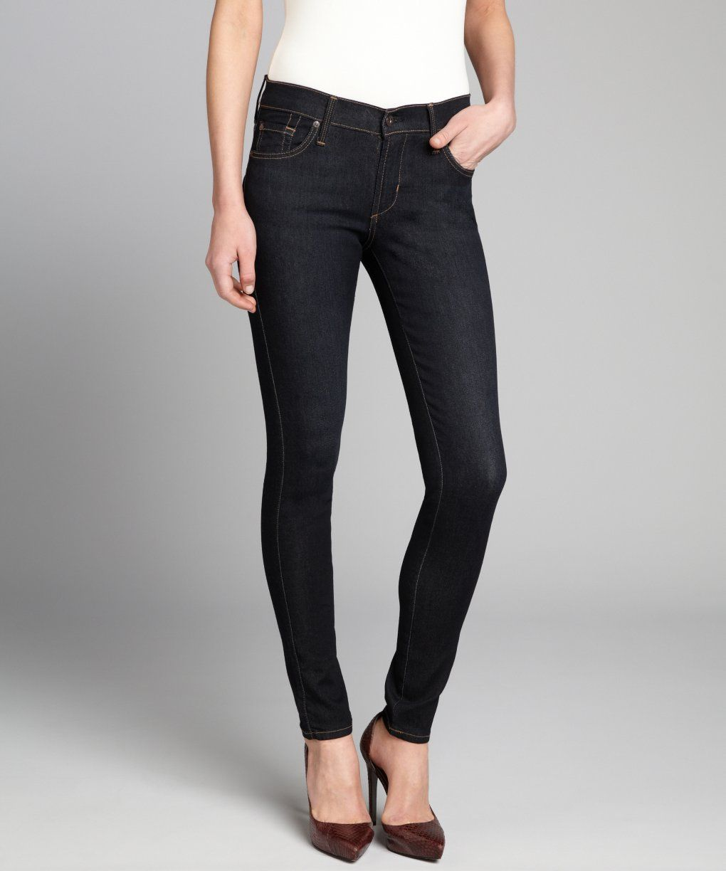 04bb624ca James Jeans black stretch denim Twiggy legging skinny jeans ...