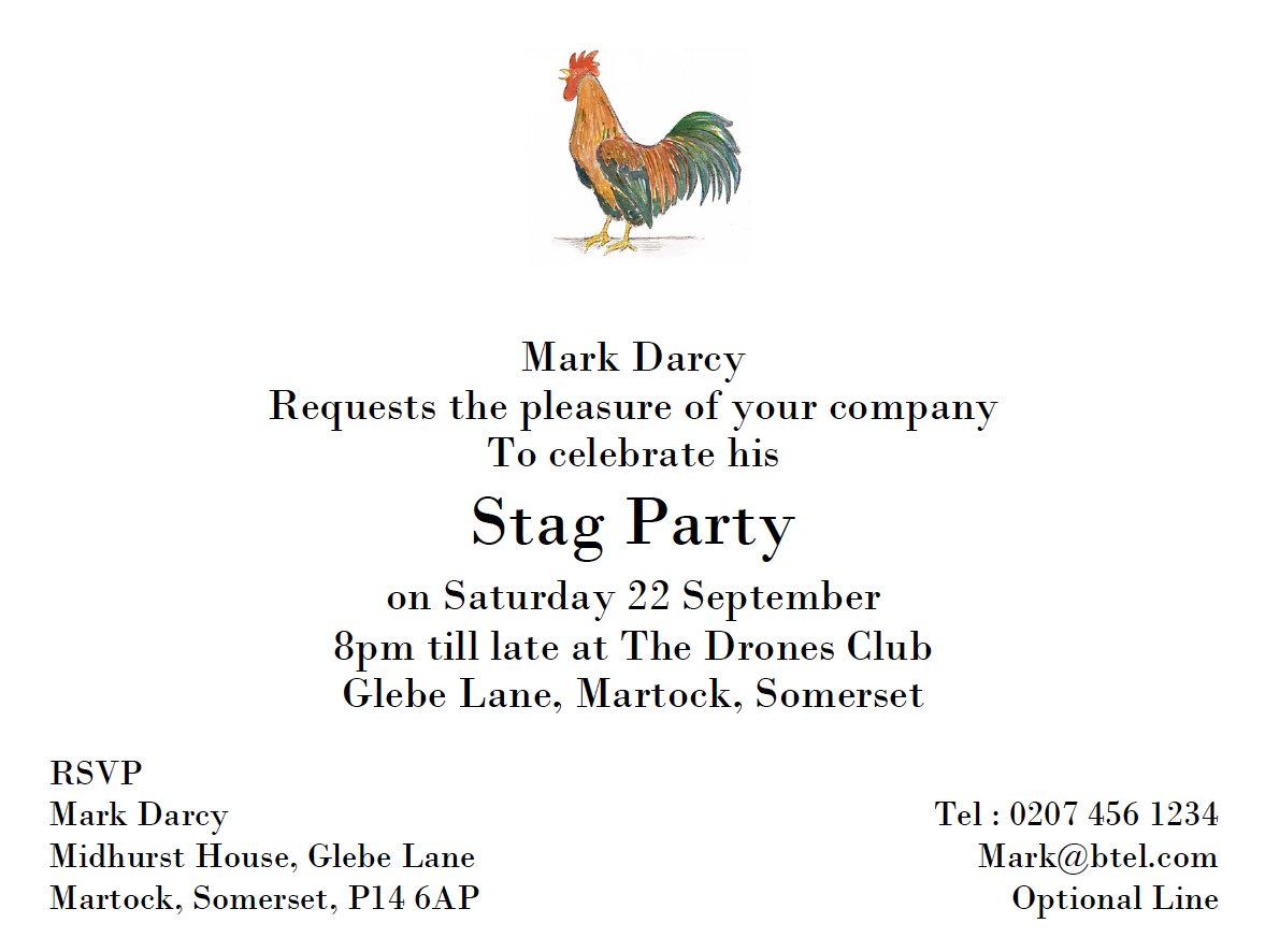 A6+ Illustrated & Personalised Hen Party Invitation card with Hen ...