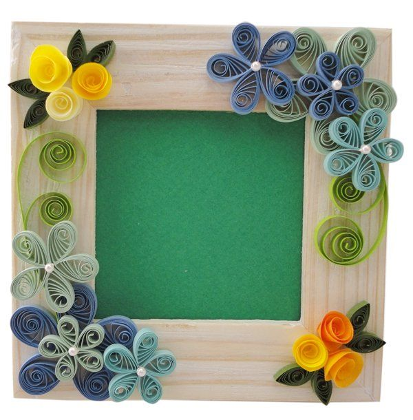 Quilling designs for frames frame paper quilling a simple for Easy photo frame craft