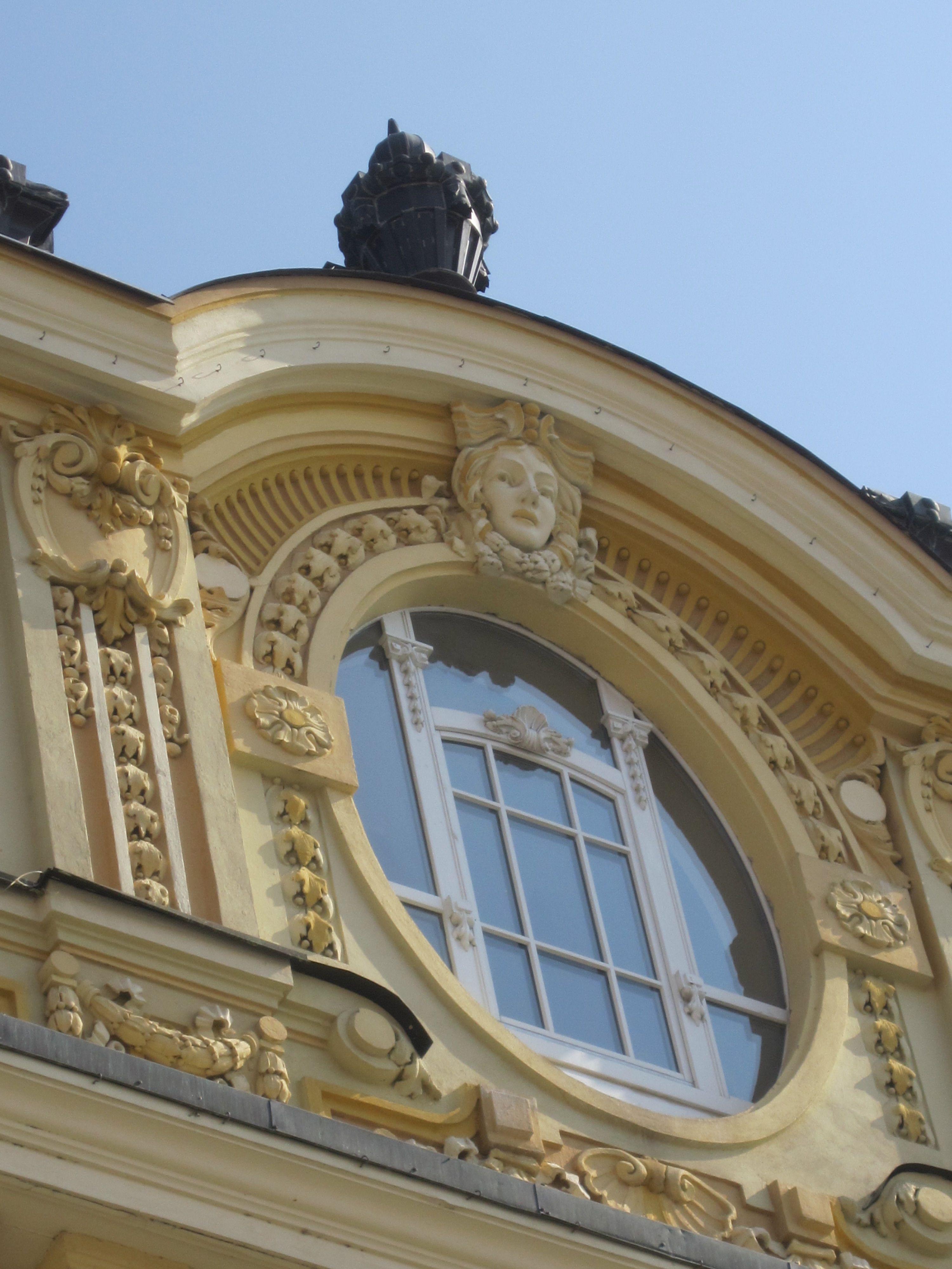Old building window decoration