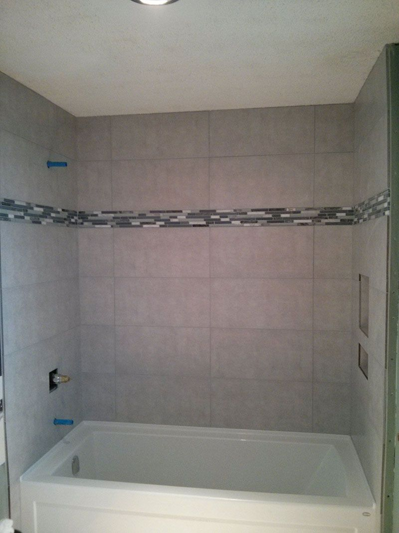 Image Result For 12x24 Stacked Tile In Tub Bathroom Design Small Shower Wall Tile Tile Bathroom
