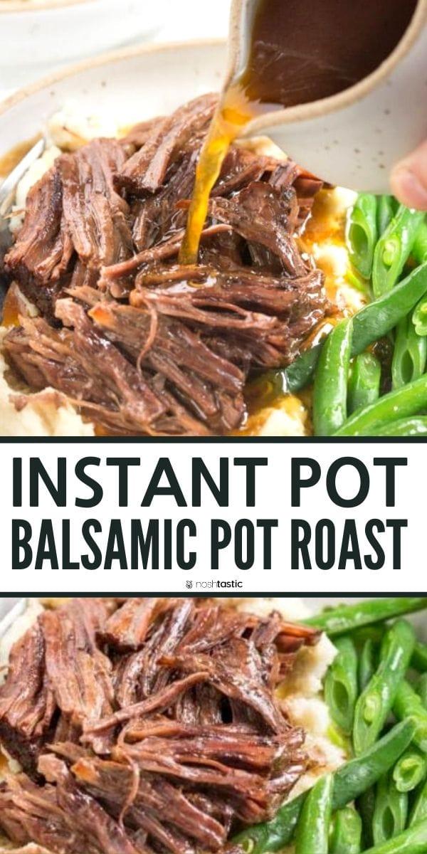 Instant Pot Balsamic Pot Roast - (low carb, keto,
