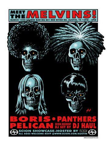 - The Melvins Concert Poster Artwork (2007) by Justin Hampton - #music #posterart #gigposter #Themelvins #artwork #musicart http://www.pinterest.com/TheHitman14/music-poster-art-%2B/