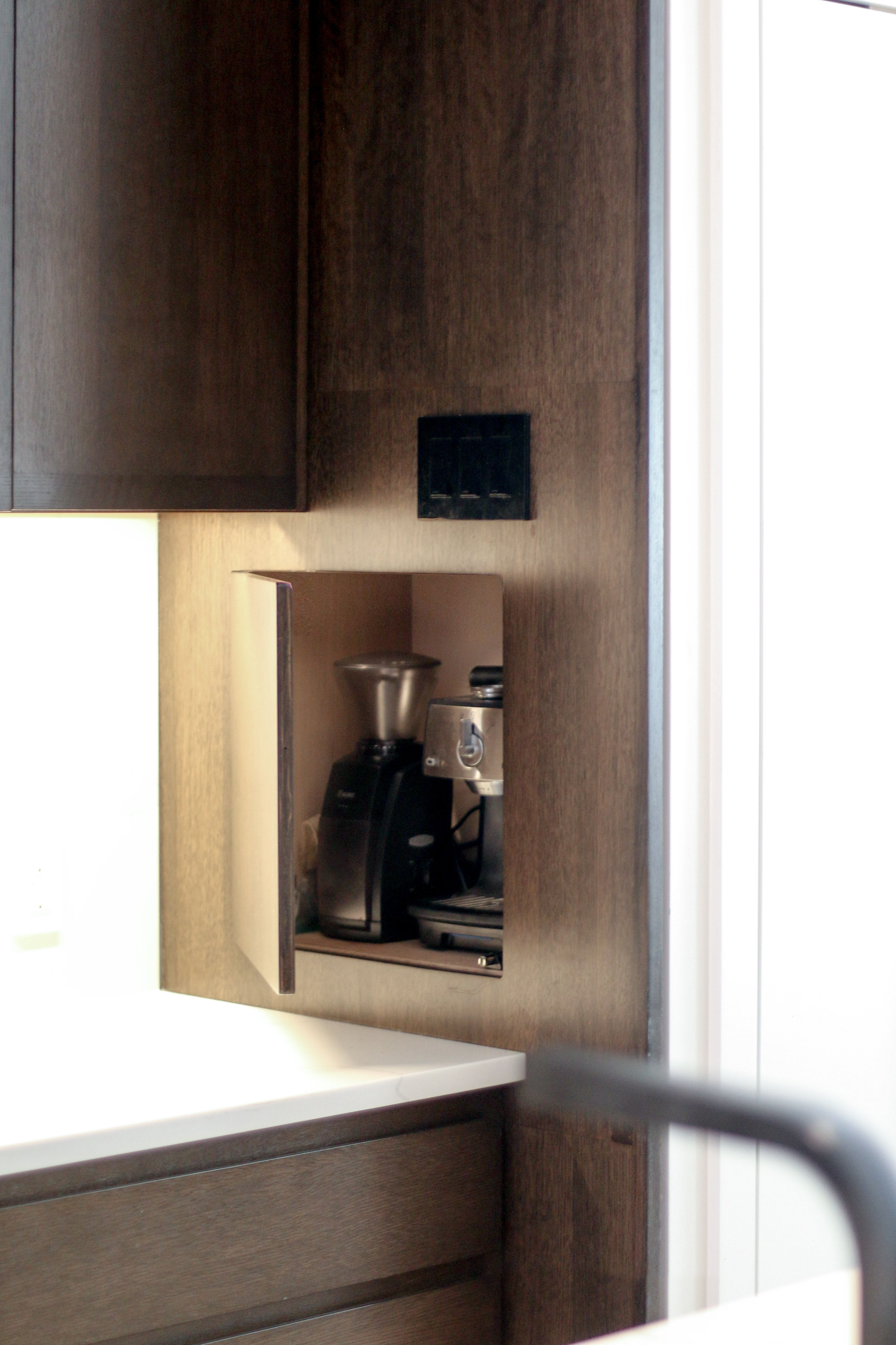 Kitchen Cupboard Uplighters Custom Designed And Built Hidden Kitchen Cabinet At Kitchen For
