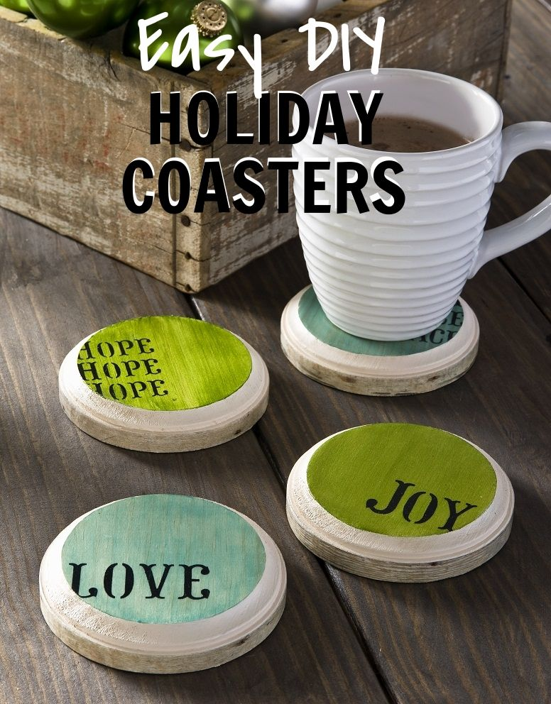 DIY Gift Idea! Easy Handmade Coasters are a great holiday gift