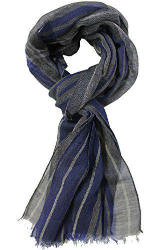 Rotfuchs Strickschal 100/% reine Wolle Streifen anthrazit blau made in Germany