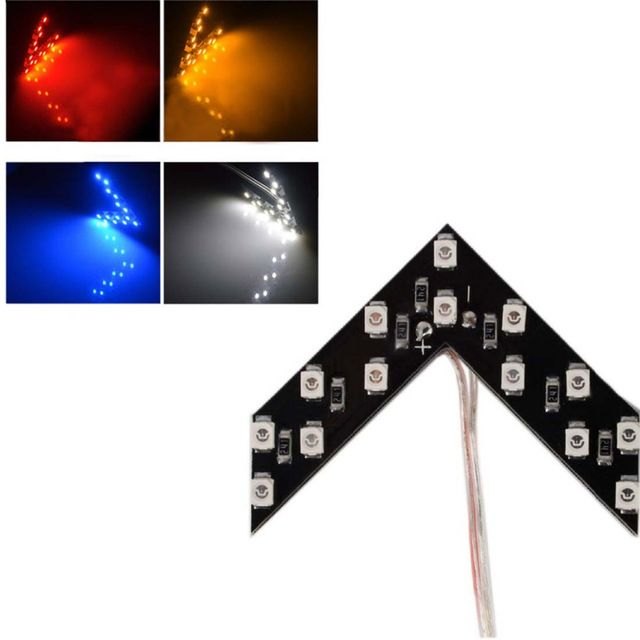 Tonewan Hot 2 Pcs Lot 14 Smd Led Arrow Panel For Car Rear View Mirror Indicator Turn Signal Light Car Led Rearview Mirror Light Review Car Rear View Mirror Mirror With Lights