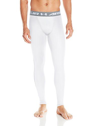 Under Armour Men's Coldgear Compression Leggings, White, Large | Armours  and Price comparison