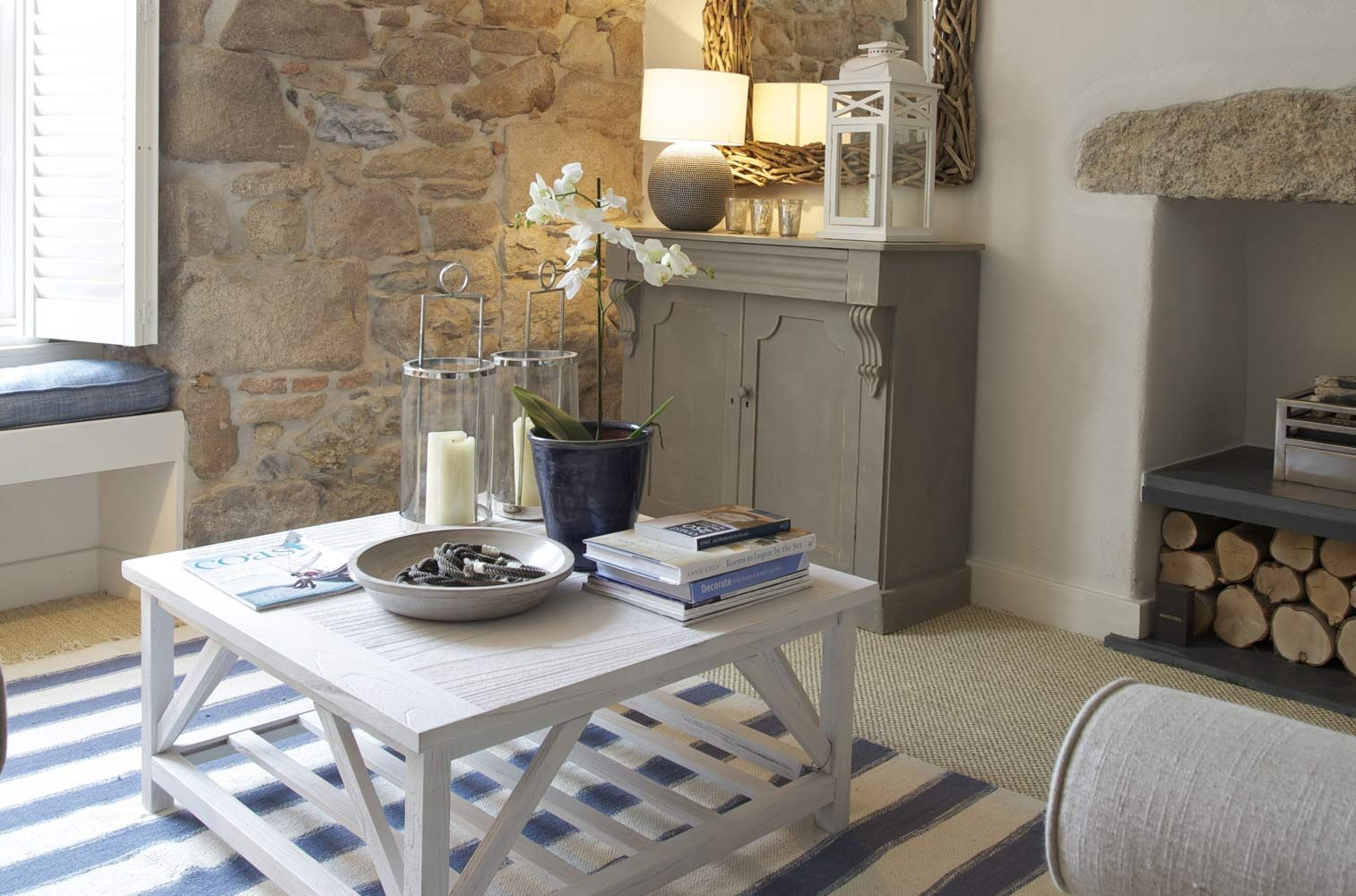 Elements That Make A Room: Expose Brick, Interesting Furniture Pieces With  A Nautical Touch.The Tide House, St Ives, Cornwall