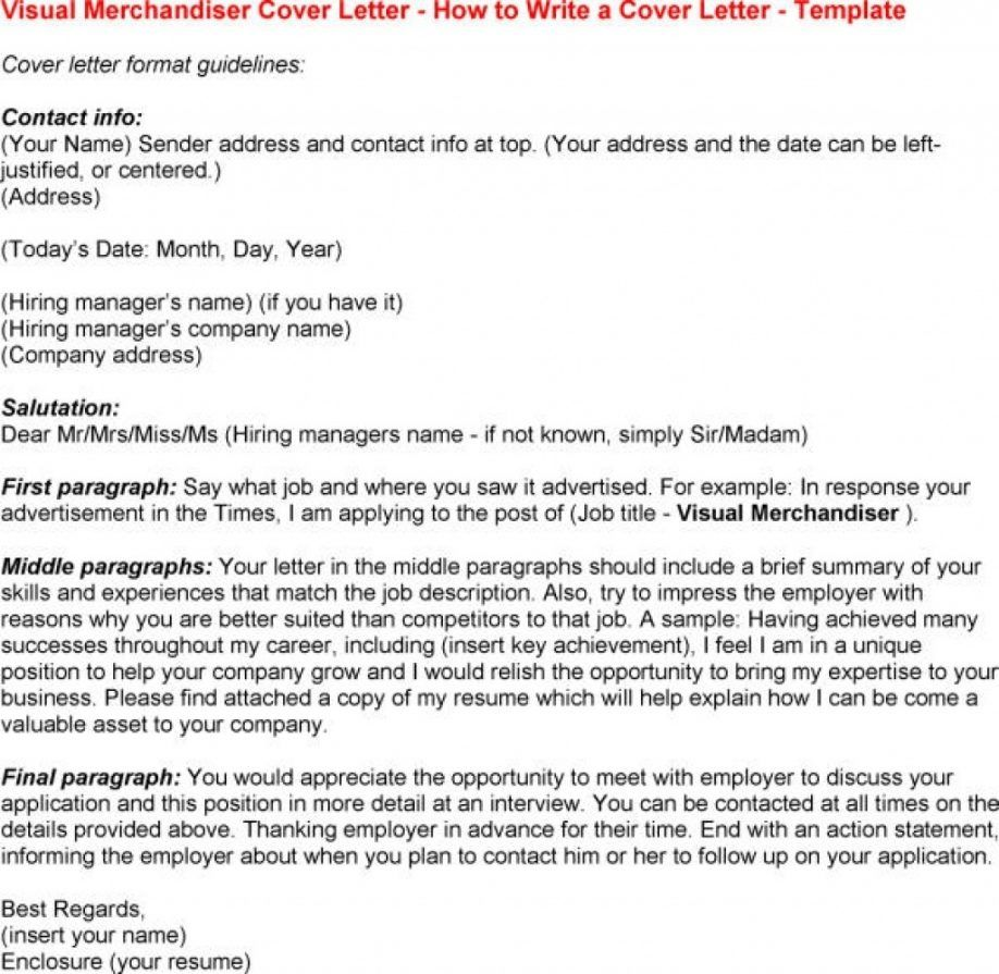 Cover Letter Template Visual Merchandiser | CV\'s | Cover letter ...