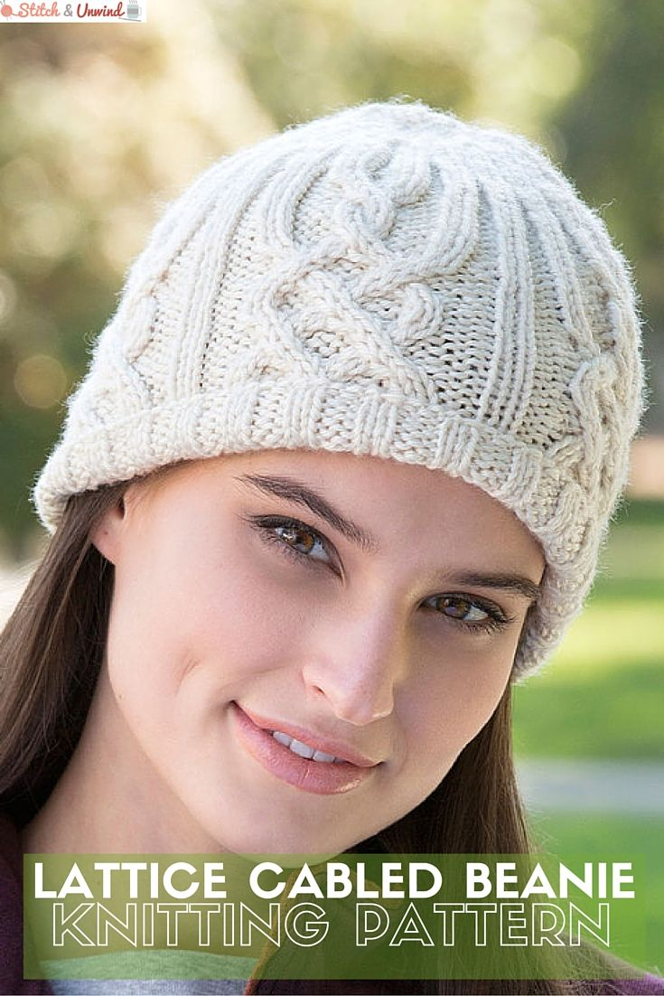 Free Pattern Friday: Knit Beanie Pattern from Red Heart! | Beanie ...