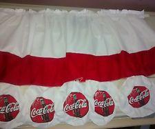 coke coca cola bottle caps kitchen window treatment curtain ...