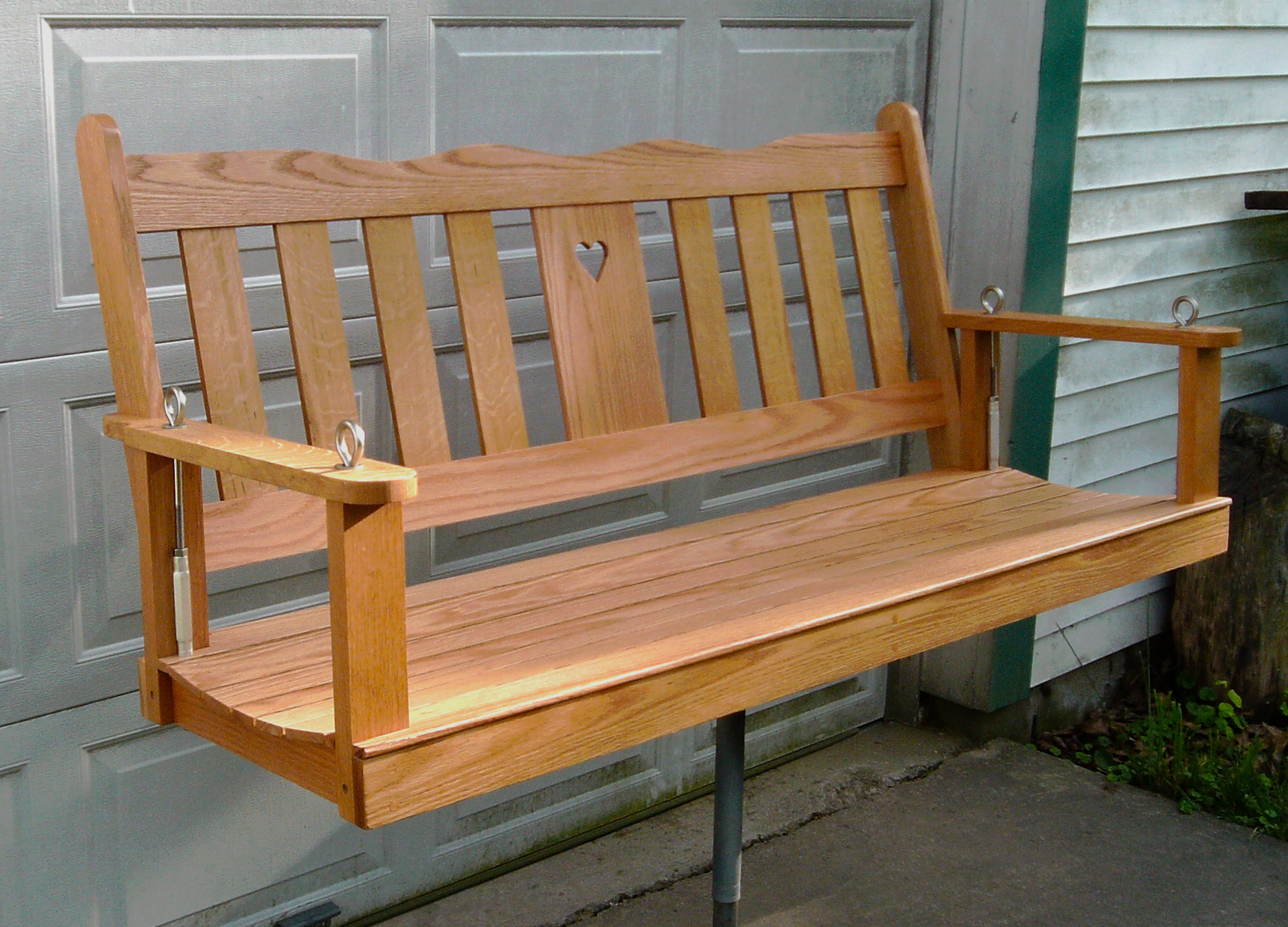 Porch Swing Build In White Oak And A Natural Finish In Spar Varnish. The  Hardware