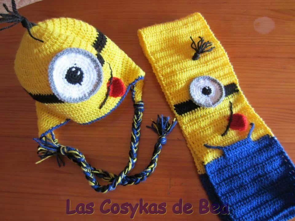 Gorro y bufanda Minions!!!  a2f8968b282