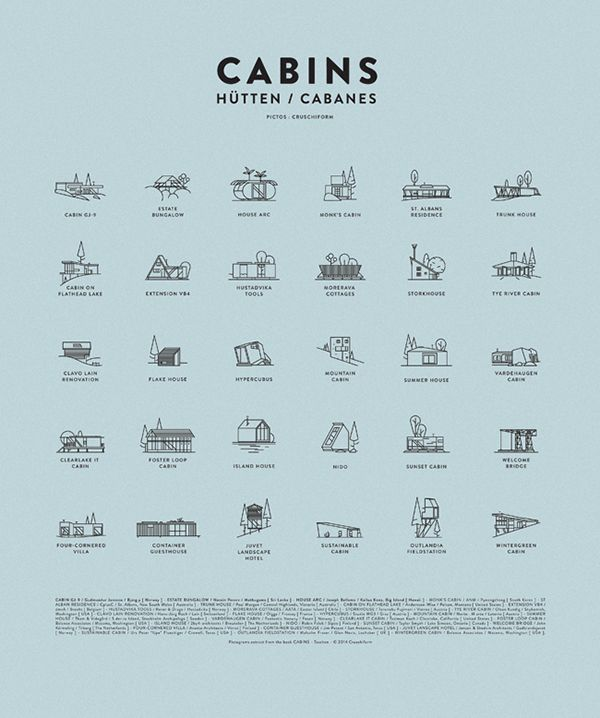 CABINS BOOK - pictos on Behance