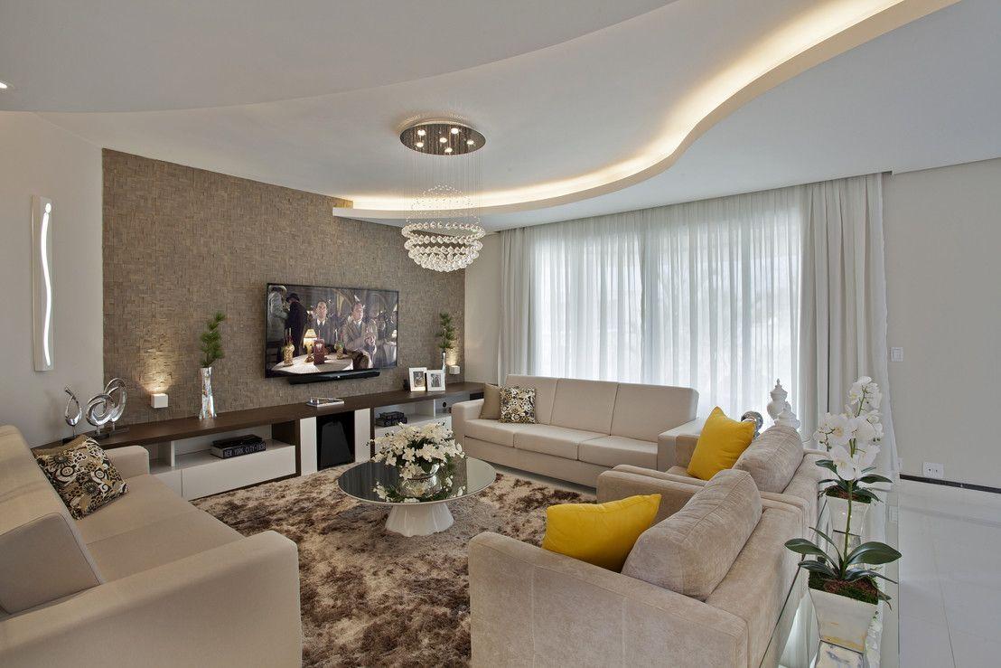 Sala De Estar Com Amarelo ~  Clean Dúvida de Decoração da Leitora  Sala com Sofá Amarelo