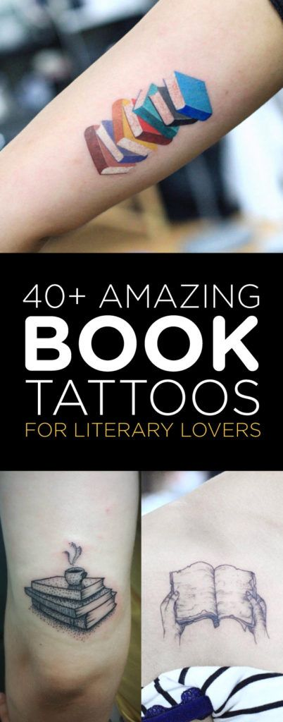 40 amazing book tattoos for literary