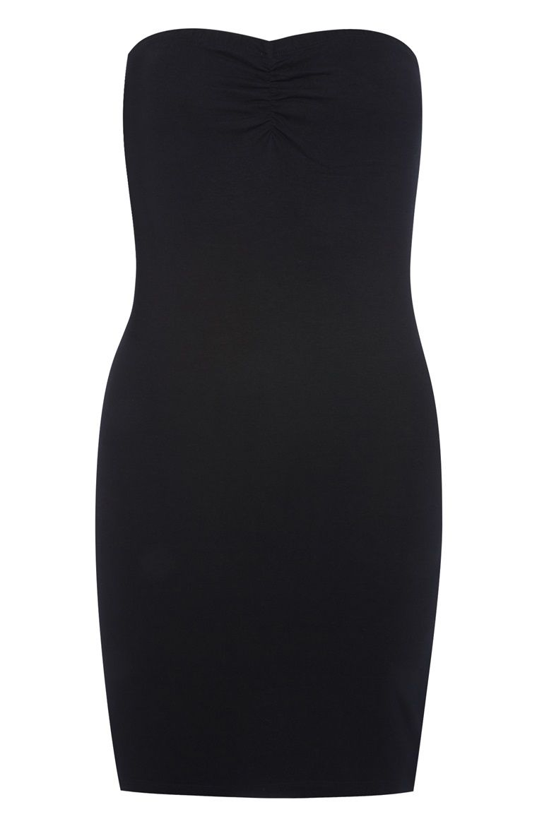Plain black maxi dress primark