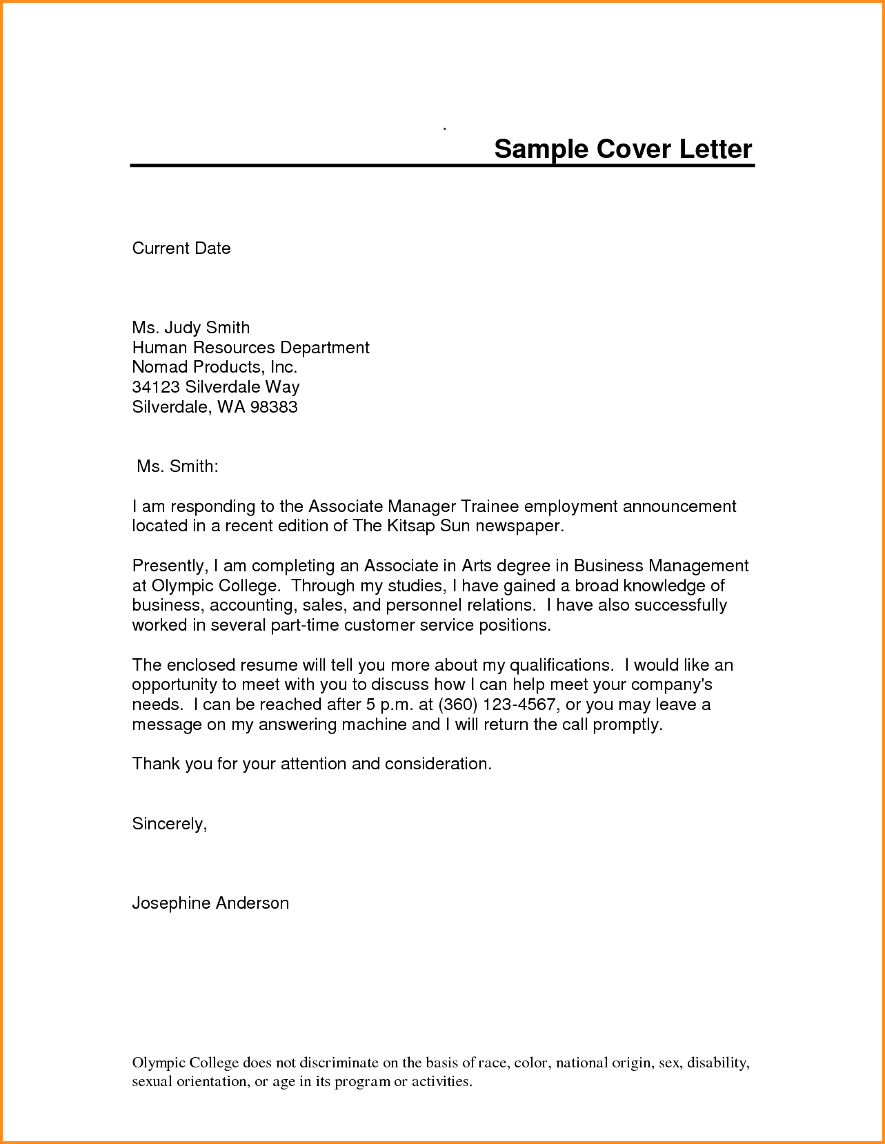 Pin On Cover Letter Template Pdf