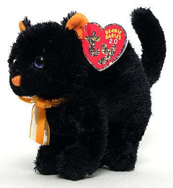 Beaniebabyaday: todays beanie is: scaredy the cat! - #BABIES #beanie #black #cats #halloween #plushies #toys