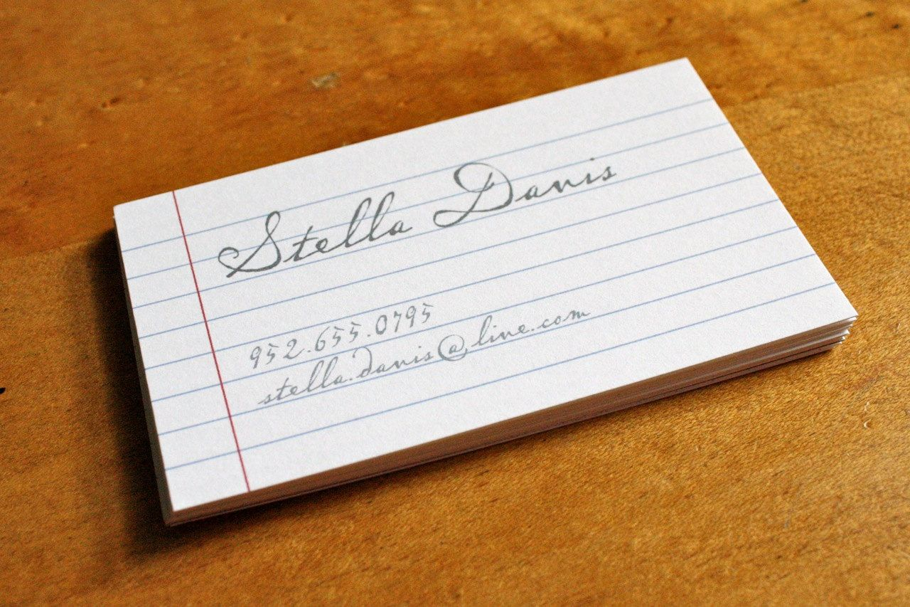 Notebook Calligraphy Business Calling Cards | Calling ...