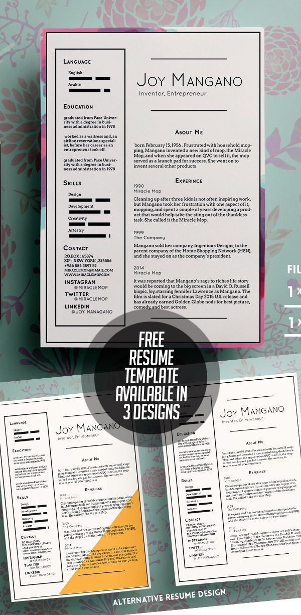Free Resume Templates Available In 3 Designs | Interview Tips