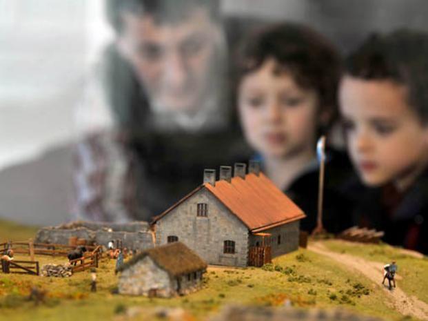 Maqueta en Museo Memorial Malvinas