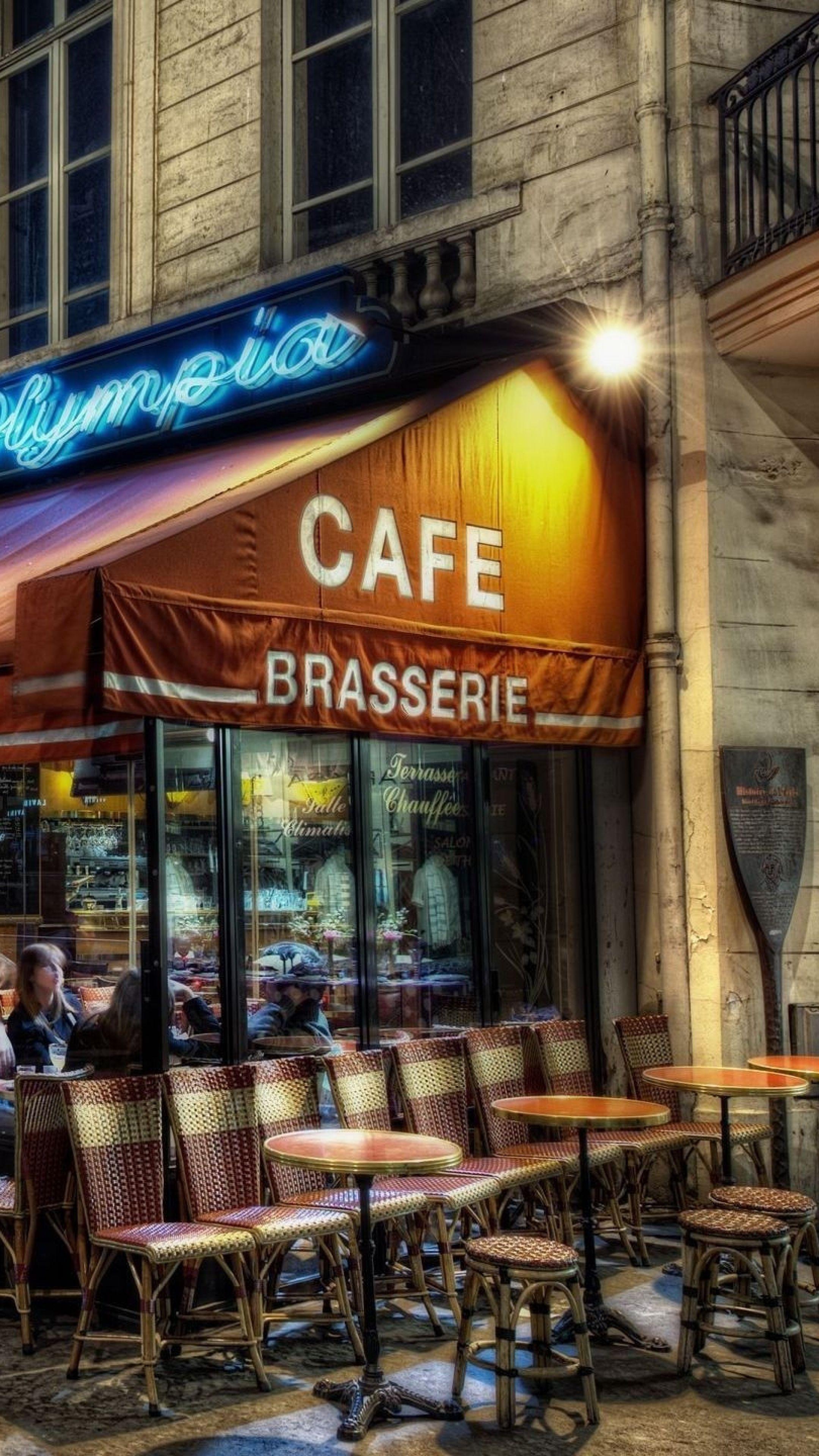 2160x3840 Wallpaper Paris Cafes Street Party Romance Hdr Paris Cafe Paris Paris At Night