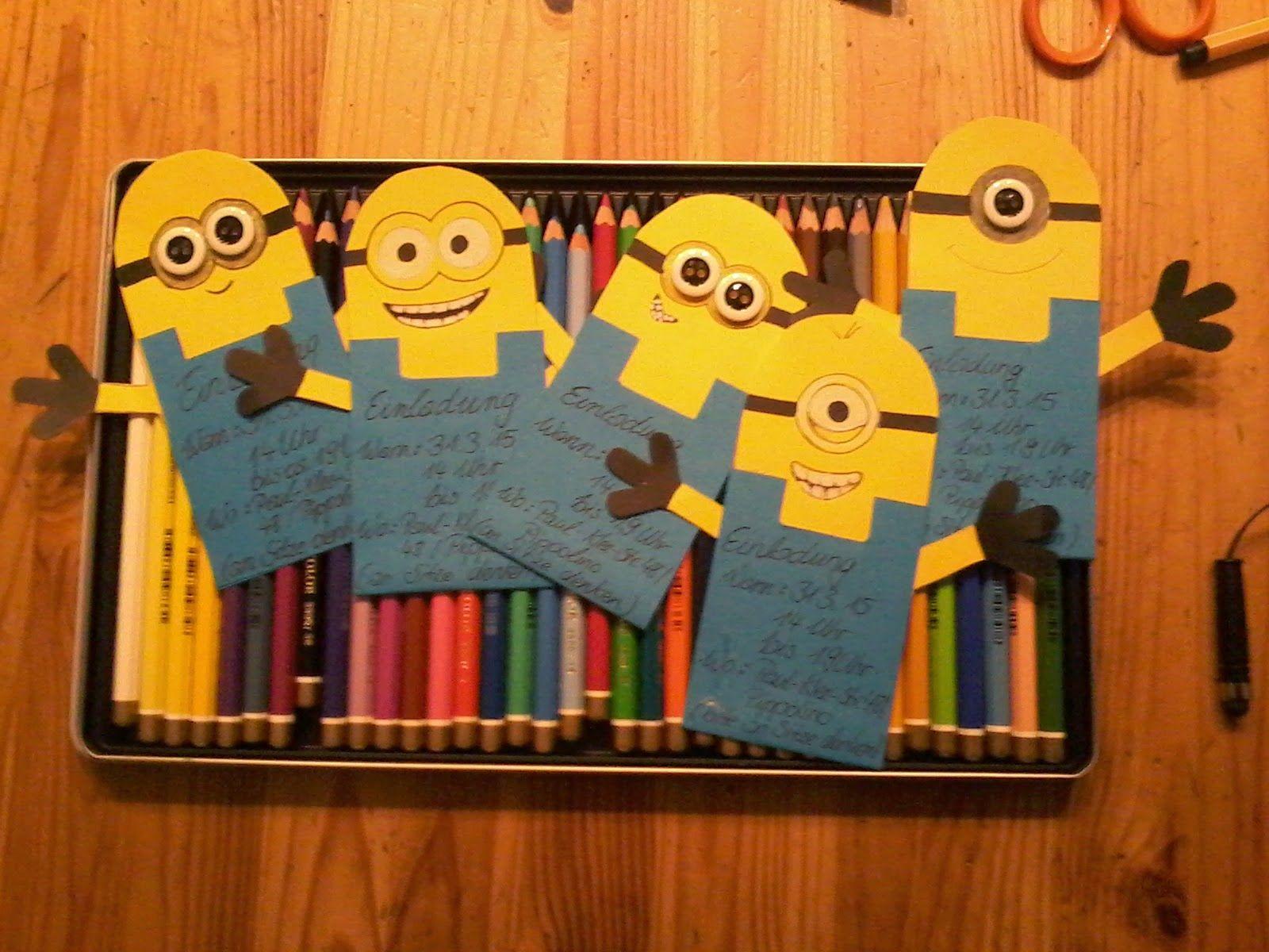 KreativWerk By Diana Christ: Einladung Minions