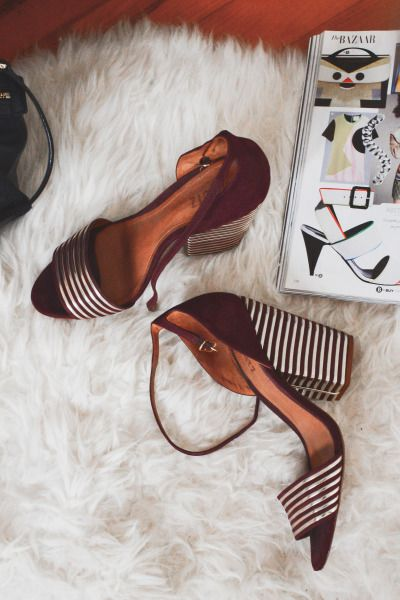 Love these shoes: http://www.stylemepretty.com/living/2015/03/04/a-sophisticated-feminine-small-space-in-brooklyn/ | Photography: Claire Esparros - http://cesparros.wix.com/