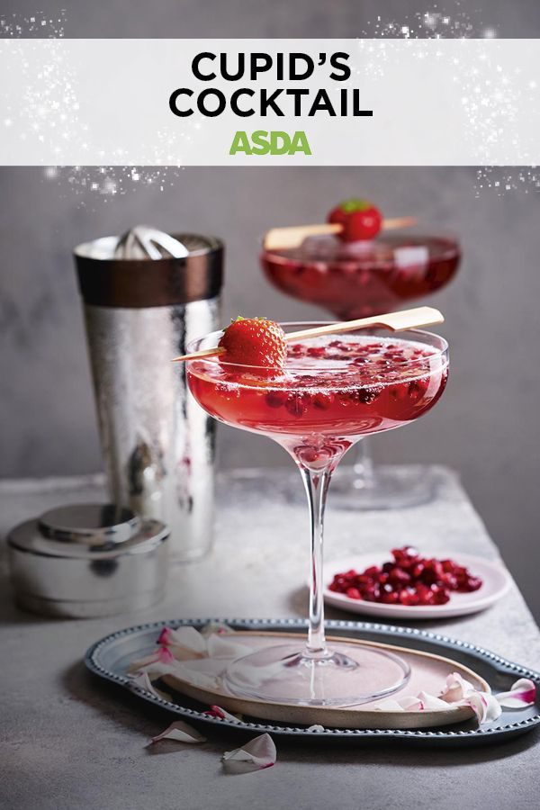 Cupid's cocktail | Recipe | New years eve drinks, Festive ...