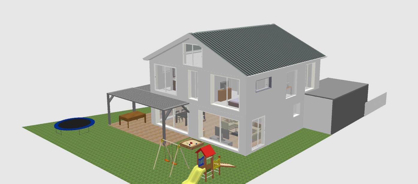 Planung EFH 2-geschossig mit Keller ca. 160m² für 4 Personen