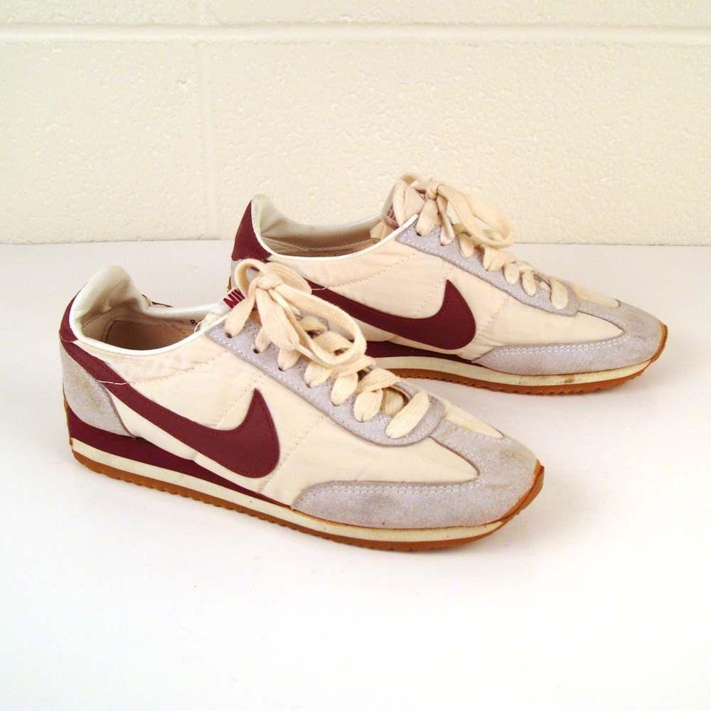 1980's shoes | Vintage 1980s Maroon Nike Sneakers Women's by