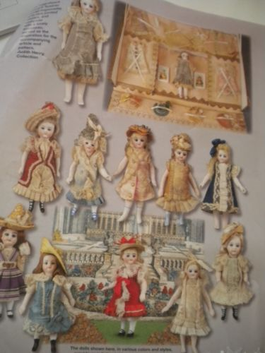 All-Bisque-Mignonette-5-Doll-Dress-Hat-Under-Garments-Classic-Pattern