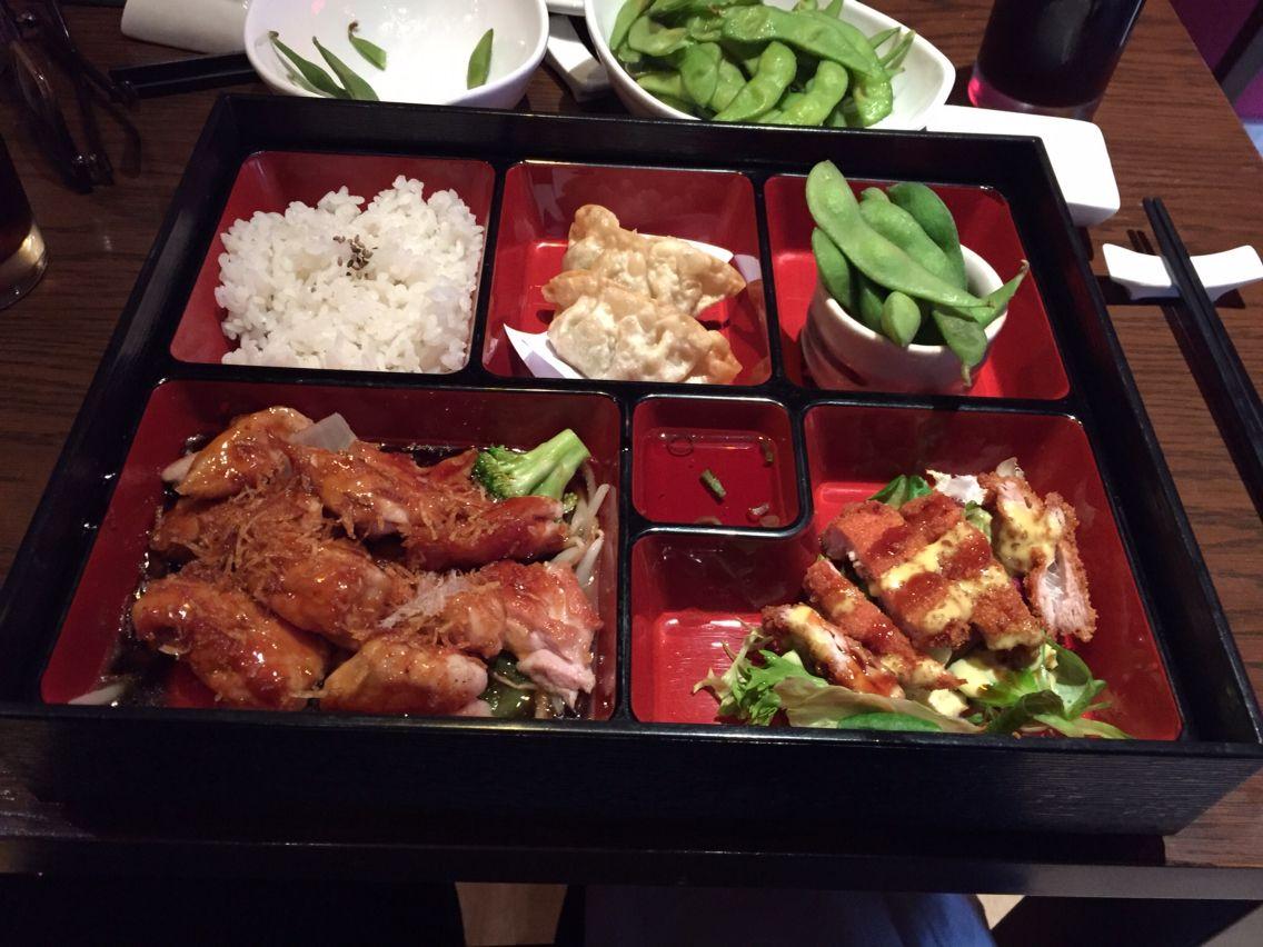 Chicken Teriyaki Bento Box Entree Kisaku Japanese Restaurant London Uk Teriyaki Chicken Entrees Chicken