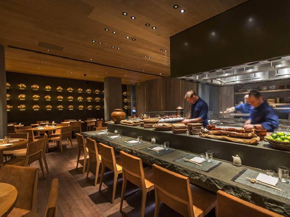 Muito Iluminação de restaurante japonês. Simples assim luz e madeira  PB59