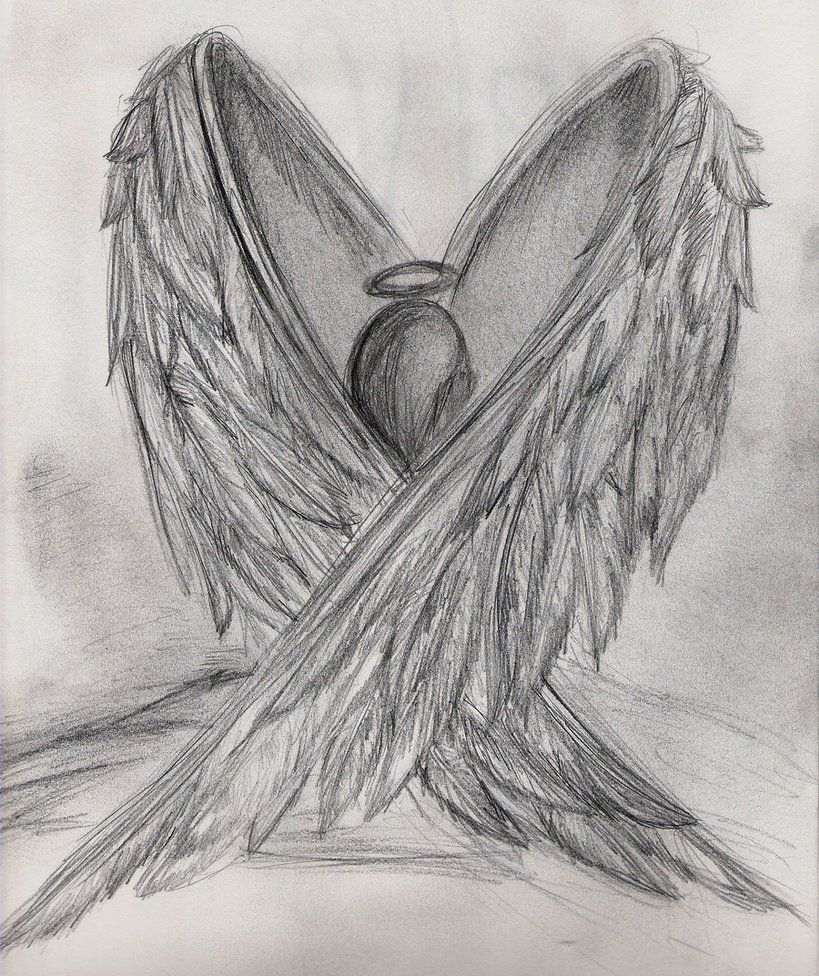 broken angel drawing