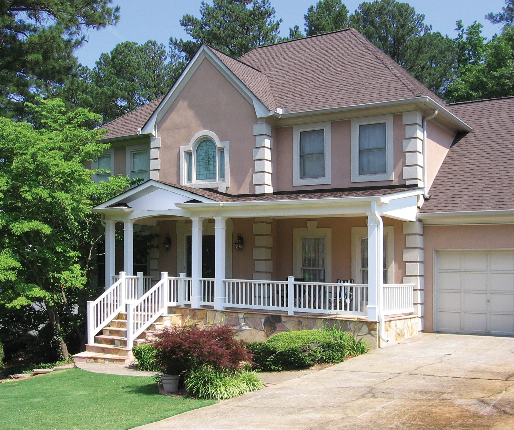 Front Porch Designs For Houses: New Front Porch On Stucco Home, Atlanta Area. This Project