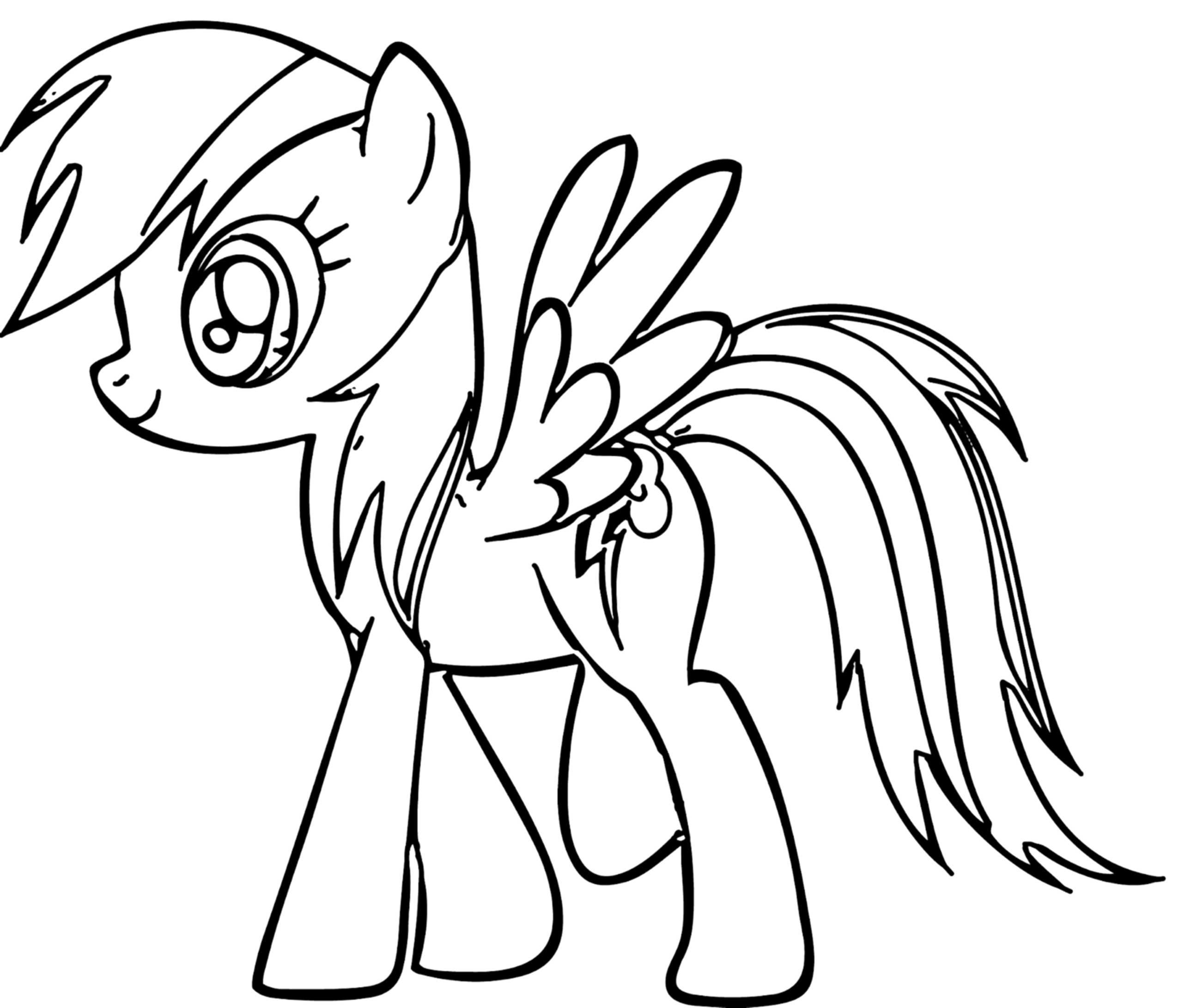 Rainbow Dash Coloring Pages Best Coloring Pages For Kids