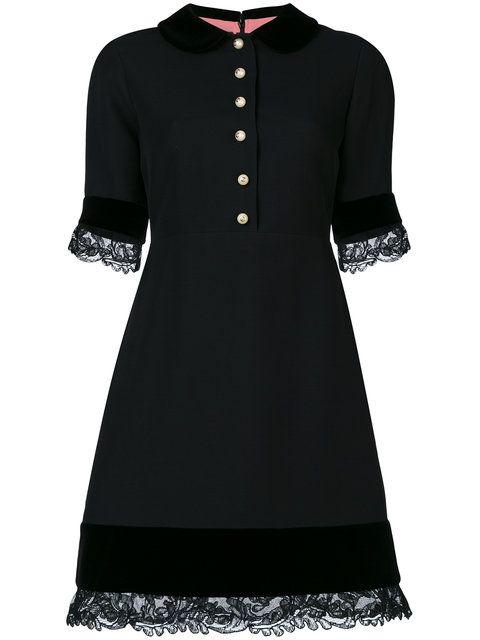 Gucci Vestido Con Detalles De Encaje - Farfetch  942c0aa17c50