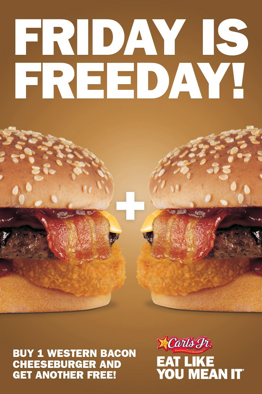 Friday is Freeday promo. Buy one get one free.