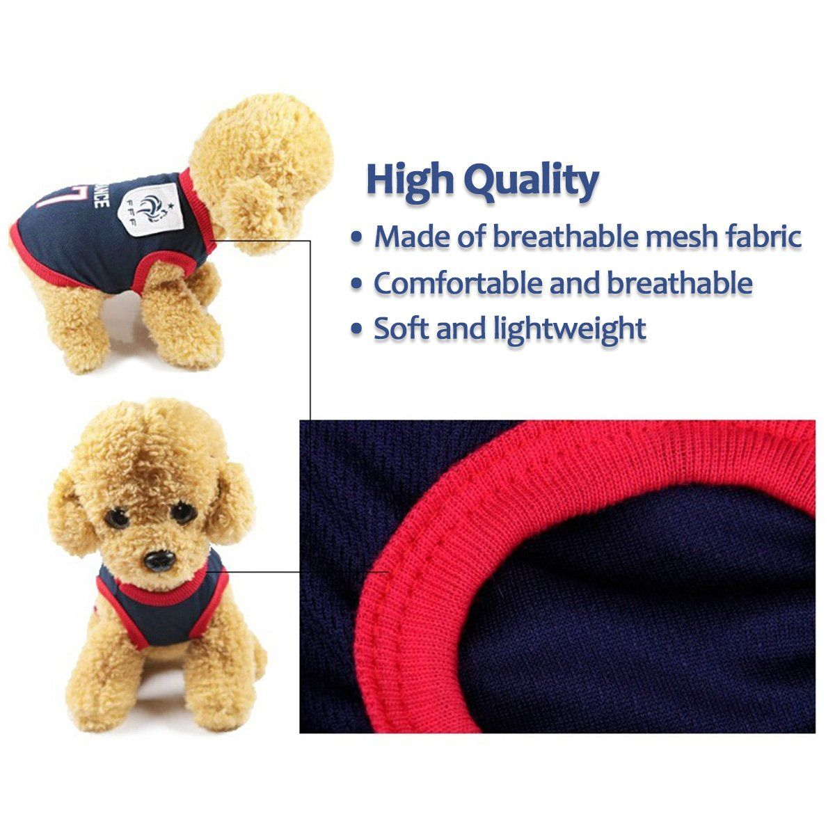 8e834da35 Antart Dog Clothes Football Tshirt Dogs Costume National Soccer World Cup  FIFA Jersey for Pet France   Information can be found by clicking the photo.