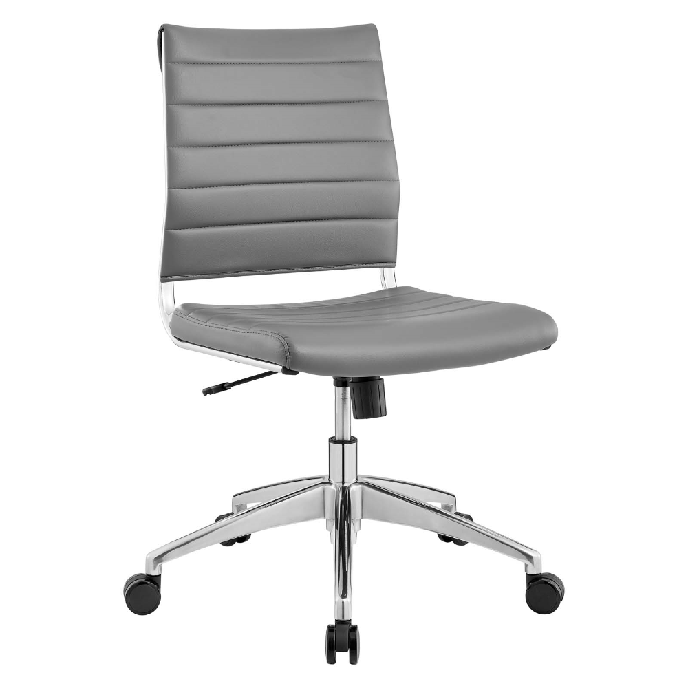 Jive Armless Mid Back Office Chair In Gray Modway In 2020 Office Chair Black Office Chair Chair