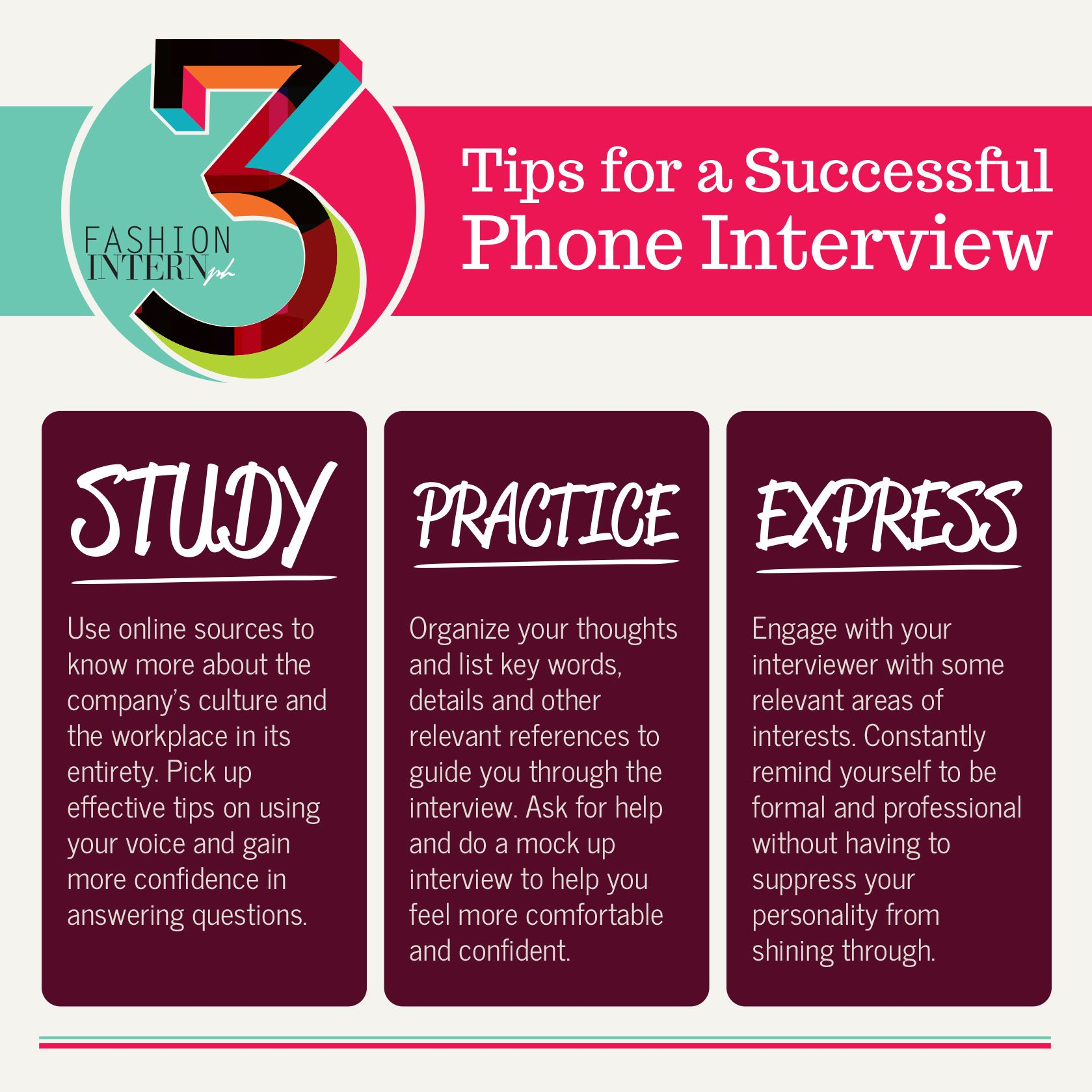 infographic tips for a successful phone interview tips career infographic 3 tips for a successful phone interview tips career