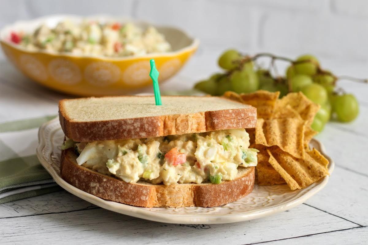 Grandma Dee S Tuna Egg Salad Tuna Egg Hard Boiled Eggs Salad Justapinchrecipes Tuna And Egg Tuna Egg Salad Recipes