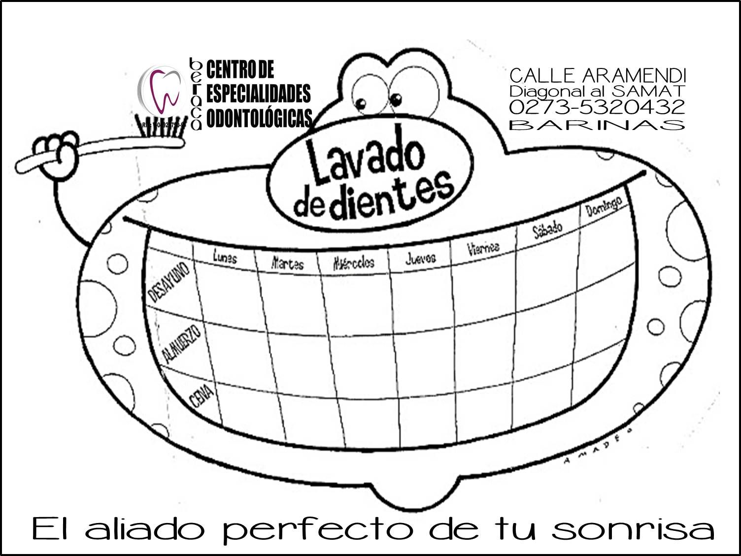 Cuadro control de mi #CepilladoDental. Y cuido mis #dientes | club ...
