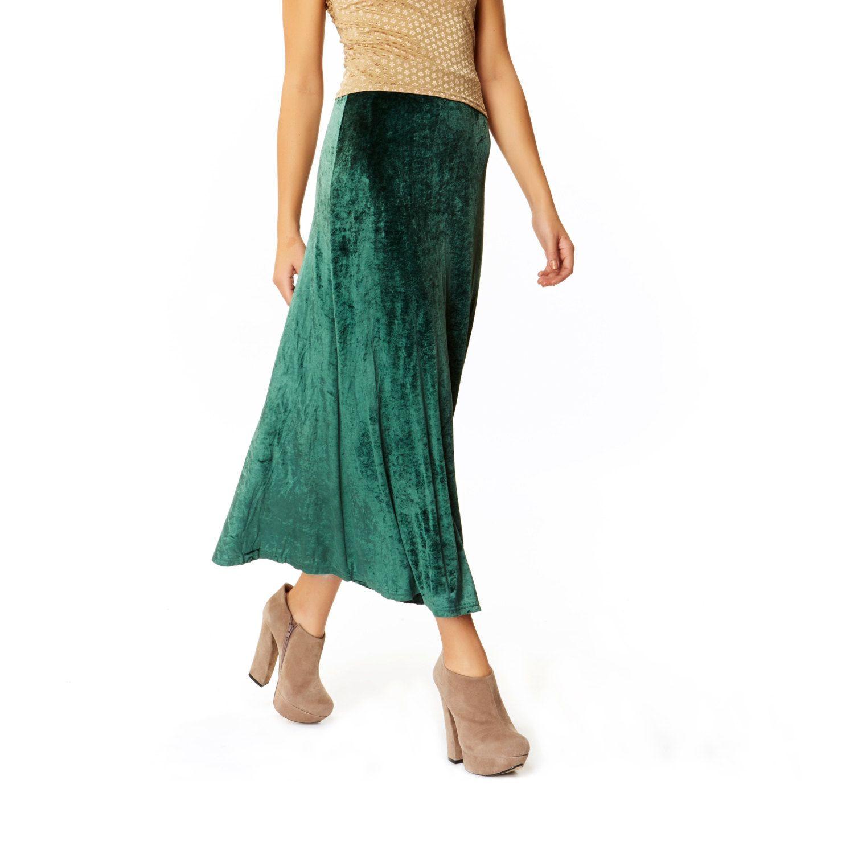 New to AmericanDeadstock on Etsy: Velvet Underground Long Green Crushed Maxi Skirt (35.00 USD)